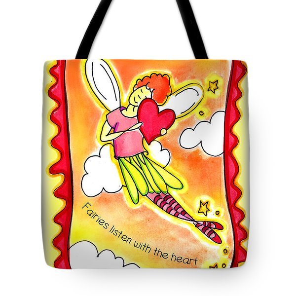 Fairies Litsten With The Heart  Tote Bag