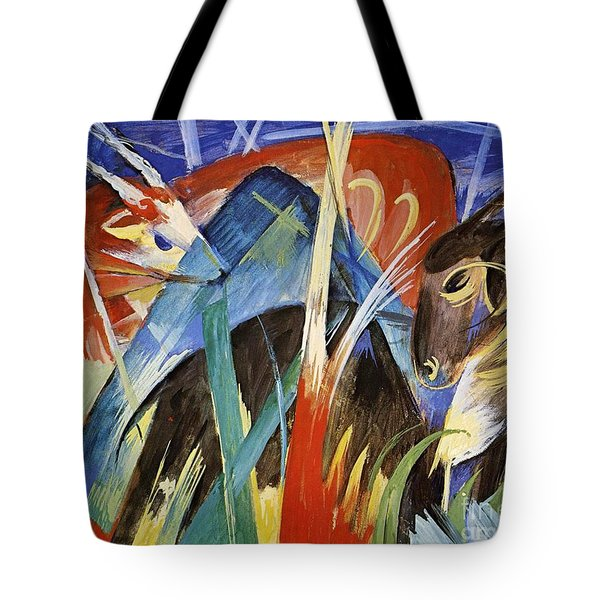 Fairy Animals Tote Bag by Franz Marc
