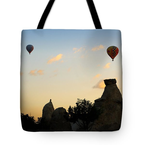 Fairy Chimneys And Balloons Tote Bag by RicardMN Photography