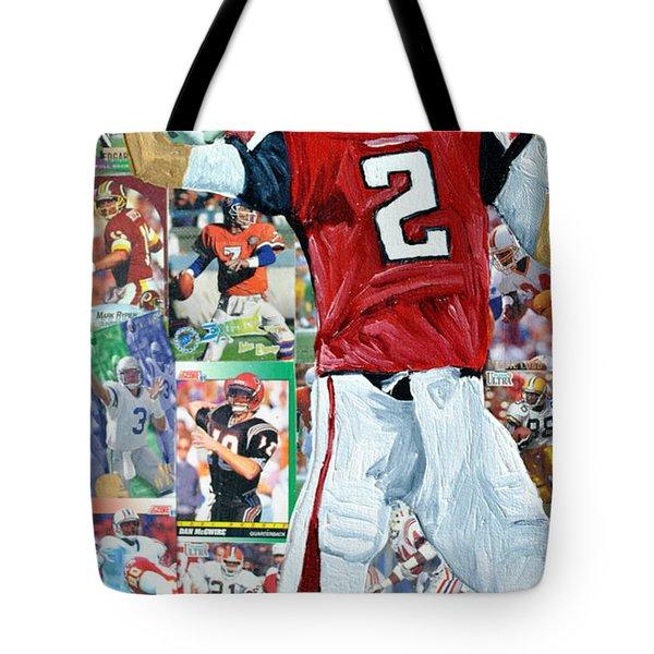 Falcons Quaterback Tote Bag by Michael Lee