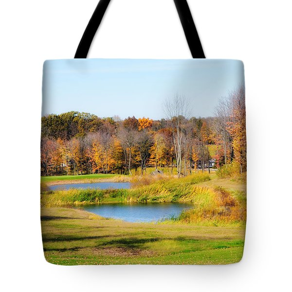 Fall At The Ponds Tote Bag