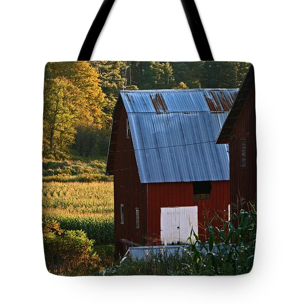 Fall Barns Tote Bag
