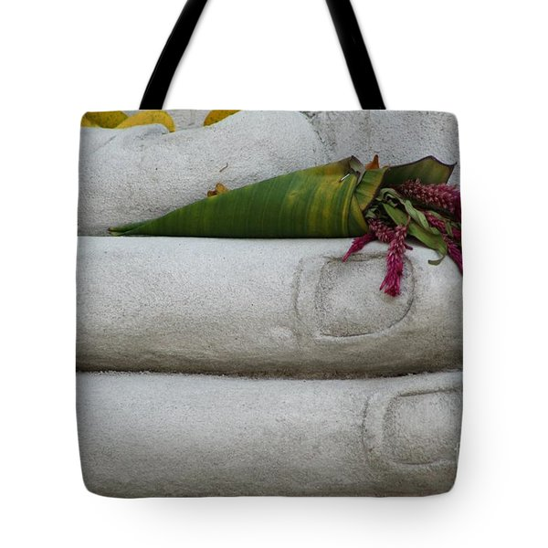 Tote Bag featuring the photograph Fall Buddha #2 by Nola Lee Kelsey