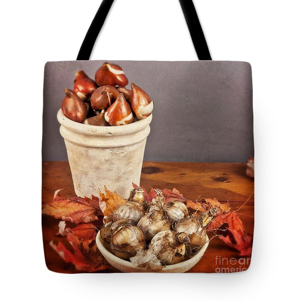 Tote Bag featuring the photograph Fall Bulbs 1 by Verena Matthew