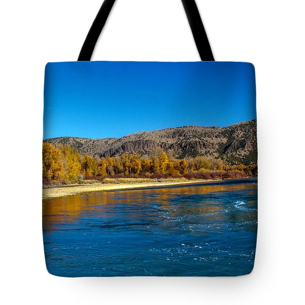 Fall Colors On The Snake River Tote Bag by Robert Bales