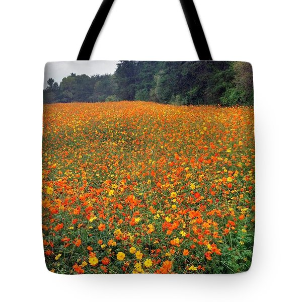 Fall Flowers Tote Bag by Janice Spivey