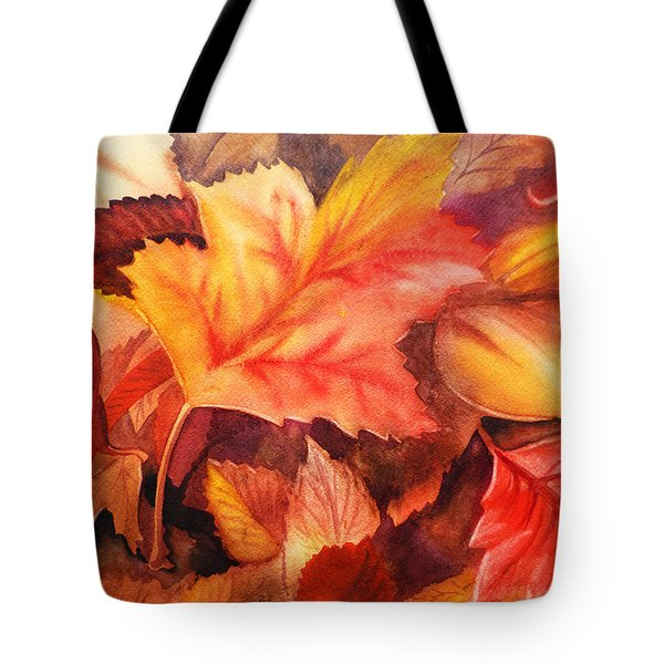 Fall Leaves Tote Bag by Irina Sztukowski