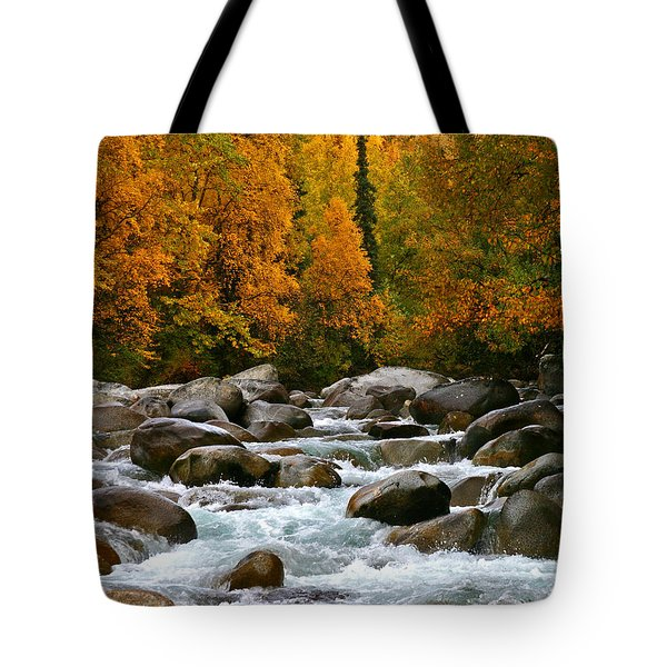 Fall On The Little Susitna River Tote Bag