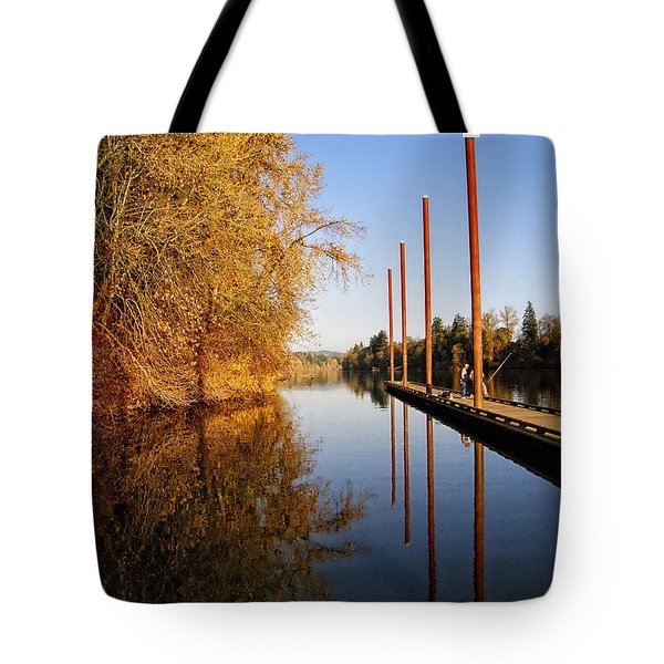 Fall Pier Tote Bag