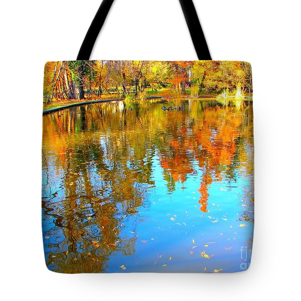 Fall Reflections Tote Bag by Ana Maria Edulescu