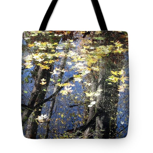 Tote Bag featuring the photograph Fall Reflections by I'ina Van Lawick