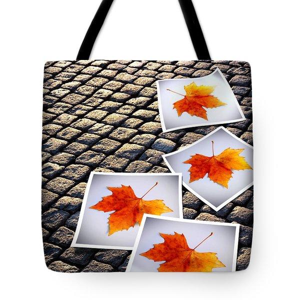 Fallen Autumn  Prints Tote Bag by Carlos Caetano