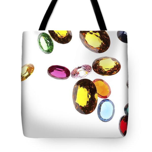 Falling Gems Tote Bag by Setsiri Silapasuwanchai