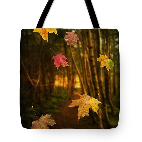 Falling Leaves Tote Bag by Amanda Elwell