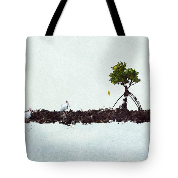 Falling Mangrove Leaf Tote Bag by Dan Friend