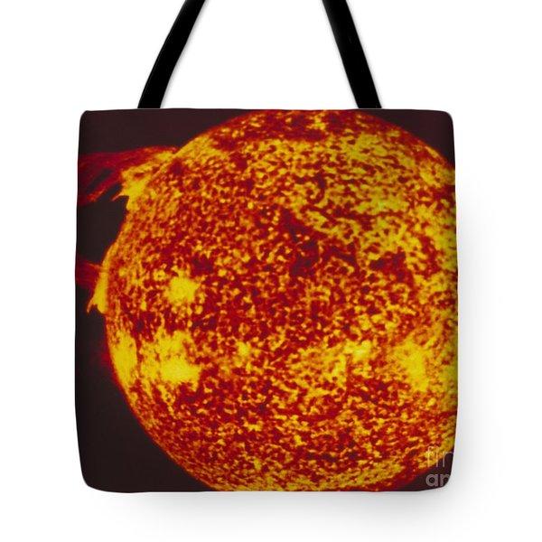 False-col Skylab Uv Image Of Solar Loop Tote Bag by NASA / Science Source