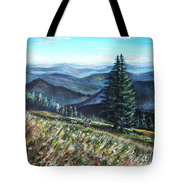 Family Hike Tote Bag by Shana Rowe Jackson