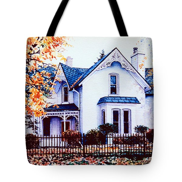 Family Home Portrait Tote Bag by Hanne Lore Koehler