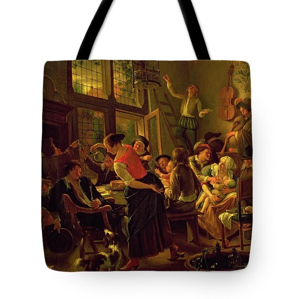 Family Meal Tote Bag by Jan Havicksz Steen