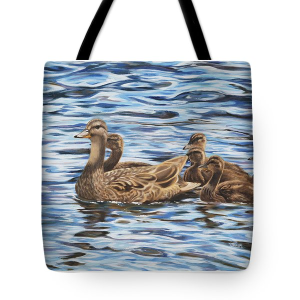 Tote Bag featuring the painting Family Outing by Tammy Taylor