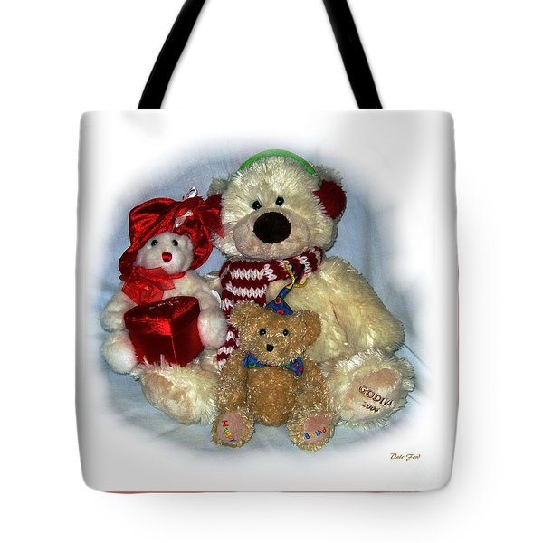 Family Portrait Pink Border Tote Bag by Dale   Ford