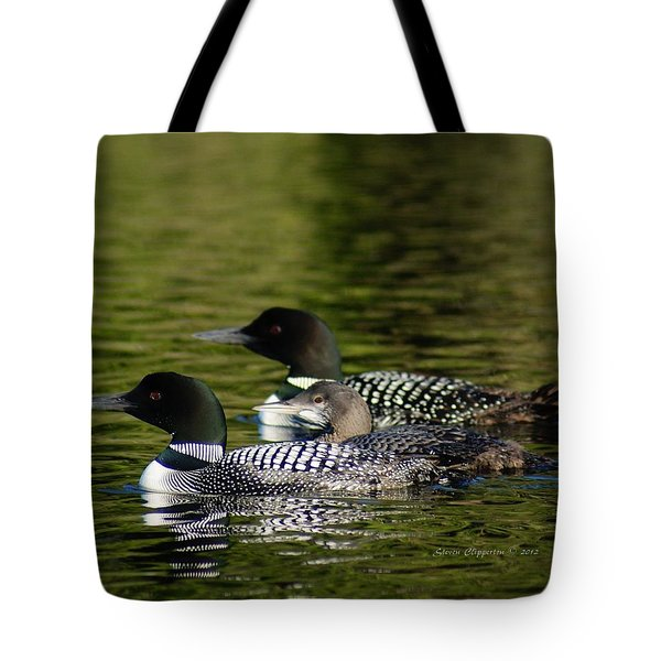 Tote Bag featuring the photograph Family Swim by Steven Clipperton