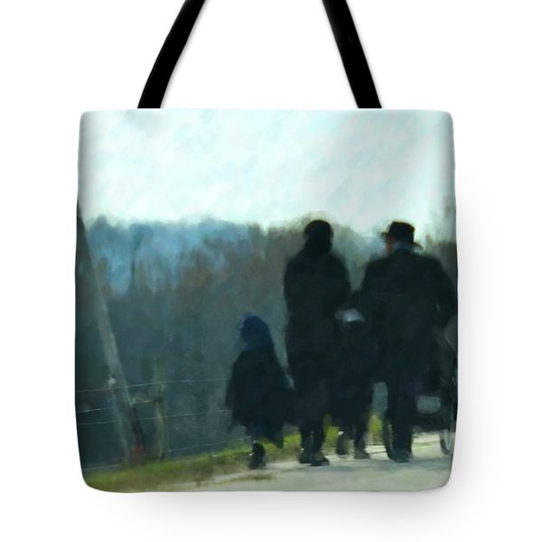 Family Time Tote Bag by Debbi Granruth