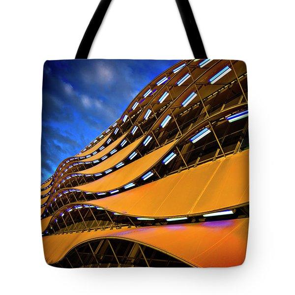 Fancy Cardiff Carpark Facade Tote Bag by Meirion Matthias