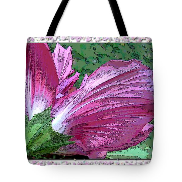 Tote Bag featuring the digital art Fancy Finish by Debbie Portwood