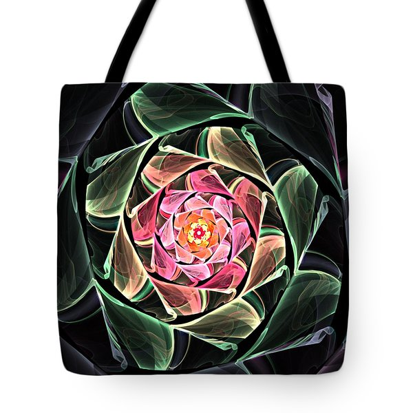 Fantasy Floral Expression 111311 Tote Bag by David Lane