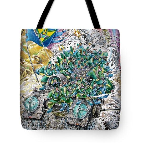 Fantasy Tank Running Wild Tote Bag by Fabrizio Cassetta