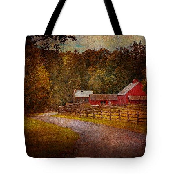 Farm - Barn - Rural Journeys  Tote Bag by Mike Savad