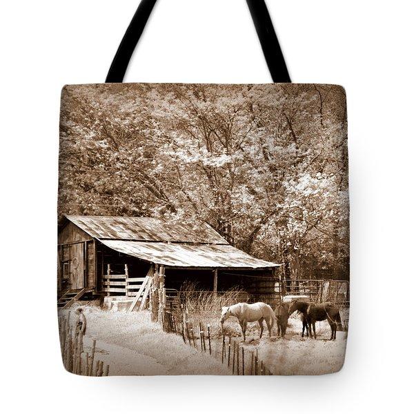 Farm And Barn Tote Bag by Marty Koch