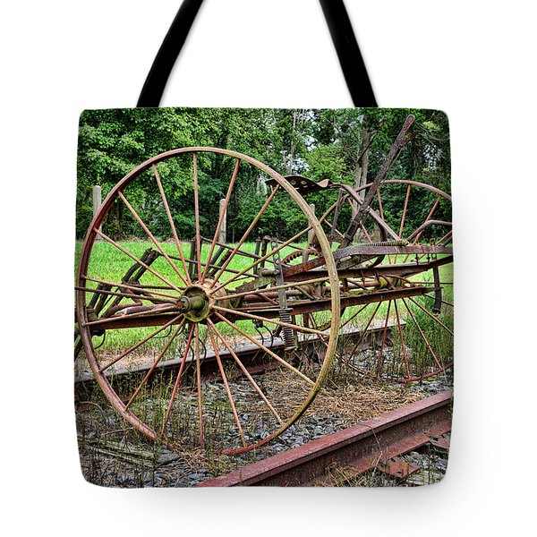 Farm - Horse-drawn Combine Tote Bag by Paul Ward
