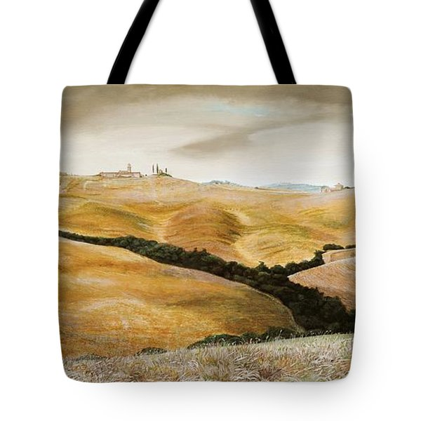 Farm On Hill - Tuscany Tote Bag by Trevor Neal