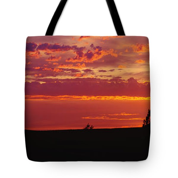 Farm Sunset Tote Bag by Joe Sohm and ChromoSohm and Photo Researchers