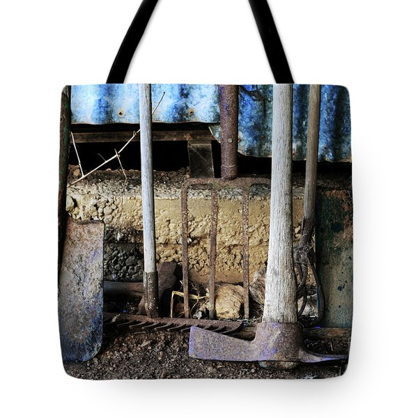 Farm Tool Tote Bag