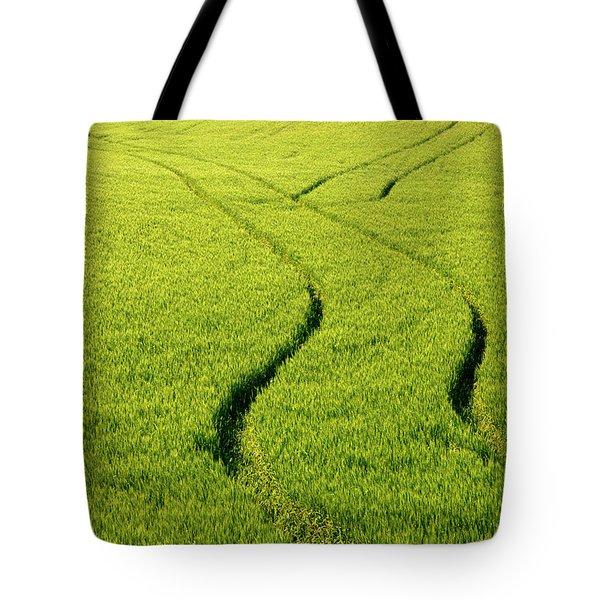 Farm Tracks Tote Bag by Mike  Dawson