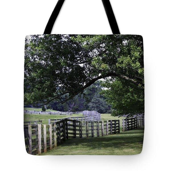 Farmland Shade Appomattox Virginia Tote Bag by Teresa Mucha