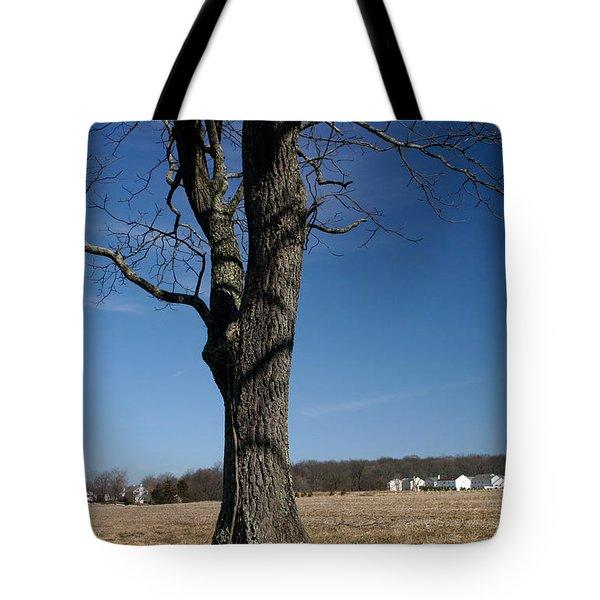 Farmland Versus Development Tote Bag by Karen Lee Ensley