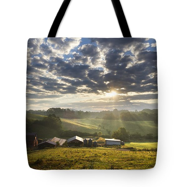 Farmlands Of Appalachia Tote Bag by Debra and Dave Vanderlaan