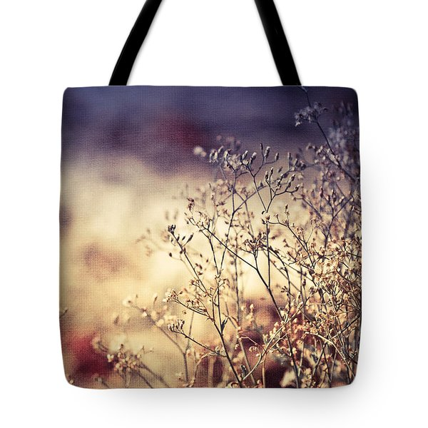 Fascinating Life Of Grass. Painting With Light Tote Bag by Jenny Rainbow
