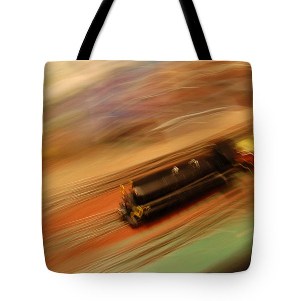 Fast Train Set Tote Bag by Randy J Heath