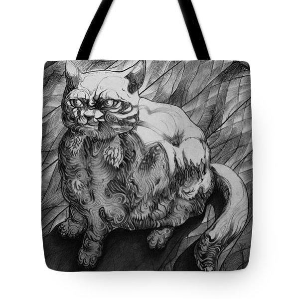 Fat Cat Fur Ball Tote Bag