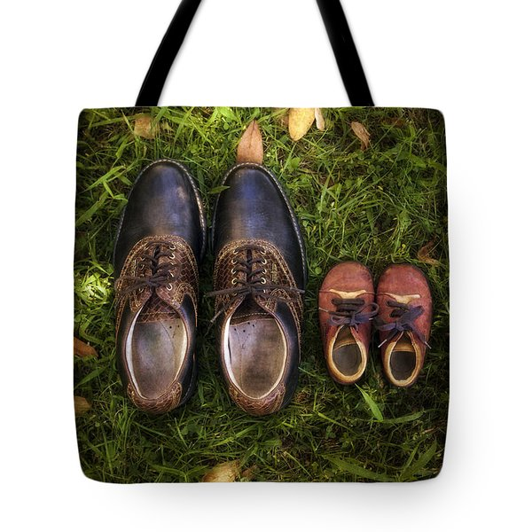 Father And Child Tote Bag by Joana Kruse
