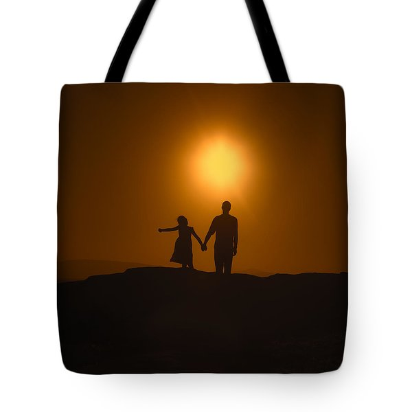 Father And Daughter Tote Bag by Joana Kruse