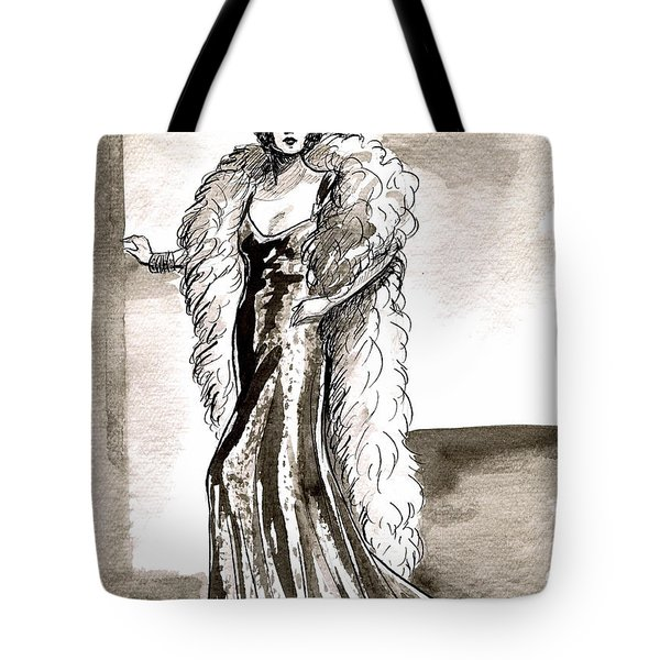 Feather Boa Tote Bag by Mel Thompson