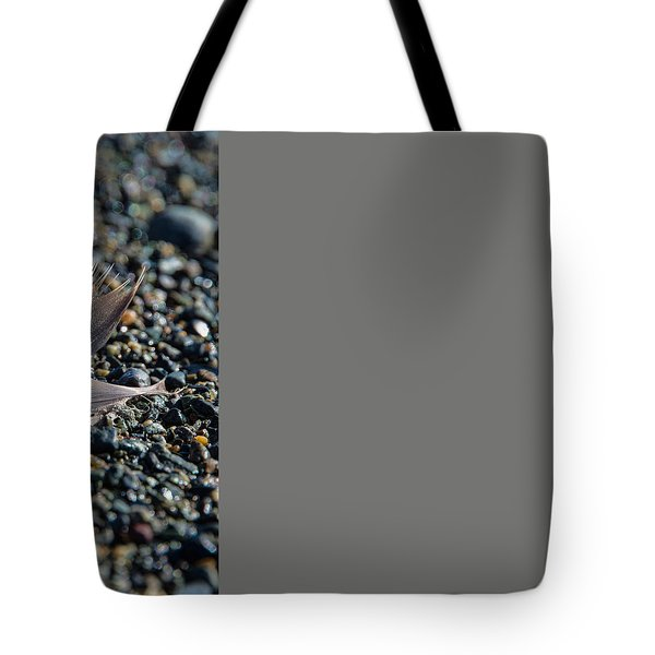 Tote Bag featuring the photograph White Feather by Marilyn Wilson