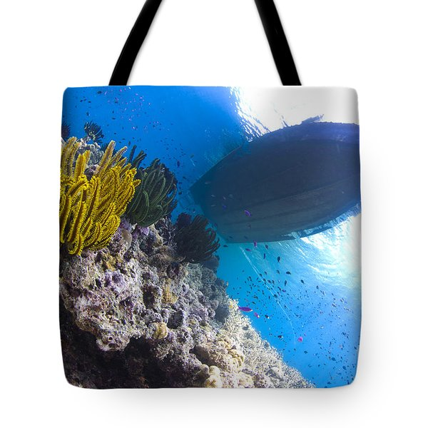 Feather Stars With A Boat Tote Bag