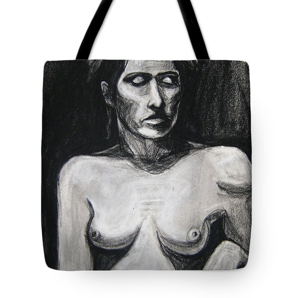 Tote Bag featuring the drawing Feathers by Gabrielle Wilson-Sealy